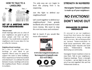 Herongate Tenant Coalition brochure